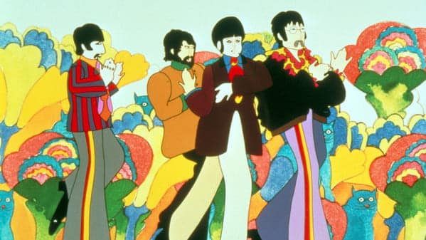 yellow submarine video beatles cartoon drawing, Worst songs to listen to during sex, worst sex songs playlist, Spotify funny playlist, worst sex songs, funny songs to make love to, songs that are not sexy, pleated jeans Spotify